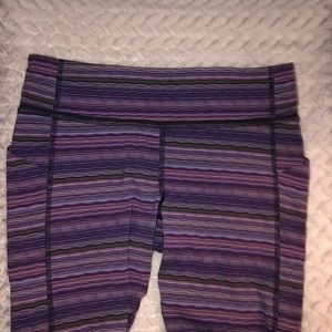 Lulu lemon cropped purple leggings